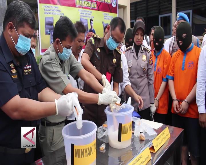 Polda NTB Musnahkan 1,9 Kg Sabu dari WNA