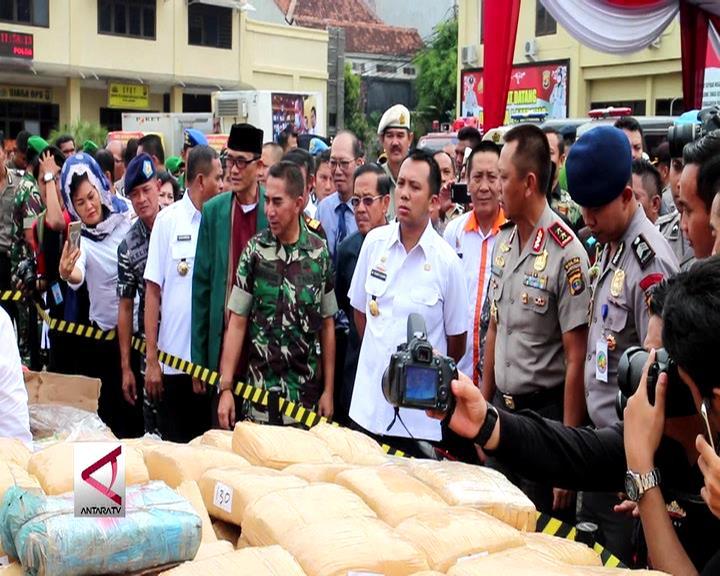 Polda Lampung Musnahkan Barang Sitaan