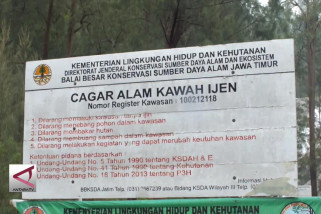 Pendakian kawah Gunung Ijen ditutup