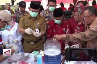 Polda Kalteng musnahkan jutaan Pil PCC, Sabu dan Kosmetik