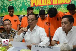 Polda Riau amankan Narkoba dari Tiongkok senilai rp7,5 miliar
