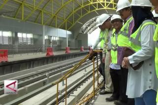 Komisi V DPR Tinjau Pembangunan LRT Palembang