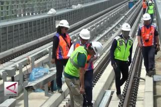 Progres LRT Palembang 89% dan Jakarta 70%