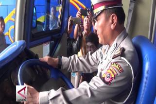 Polisi periksa armada bus angkutan lebaran Majalengka