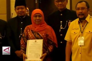 KPU tetapkan Khofifah sebagai Gubernur Jatim