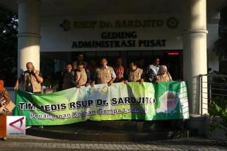 Tim Medis RSUP Dr Sardjito berangkat ke Lombok
