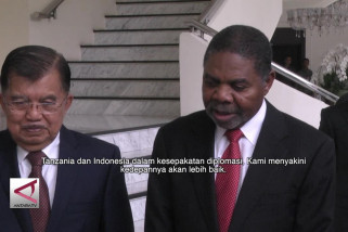 Wapres menerima kunjungan kehormatan Presiden Zanzibar