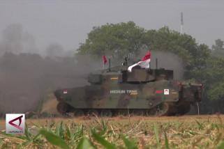 PT Pindad uji tembak turret medium tank