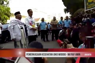 Pemeriksaan kesehatan Jokowi - Ma'ruf Amin