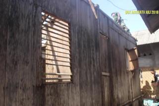 Rumah Zohri terkena dampak Gempa Lombok