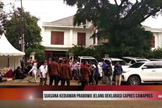 Suasana kediaman Prabowo jelang deklarasi Capres-Cawapres