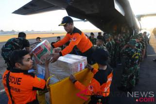 Di Lanud Iswahjudi sudah terkumpul 19 ton bantuan Gempa Lombok