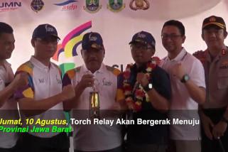 Torch Relay kembali ke Pulau Jawa melalui Merak