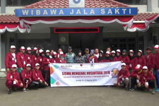 BUMN Hadir - Sambangi LANAL Banten, SMN dibekali pemahaman Bela Negara