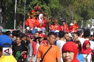 Atlet Asian Games diarak kereta kencana di Solo