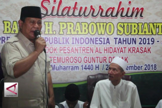 Kunjungi ulama, Prabowo ingatkan pentingnya silaturahmi