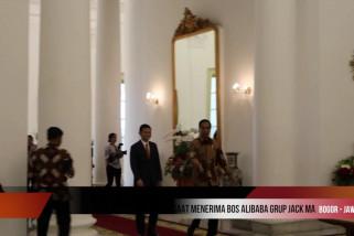 Presiden Joko Widodo bertemu Jack Ma