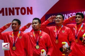 Tim para-bulutangkis Putra Indonesia raih emas