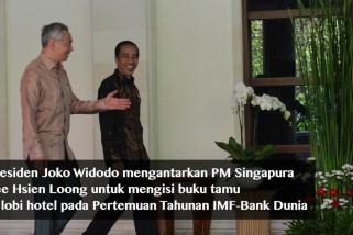Jokowi dan PM Singapura bahas investasi pada IMF-WB