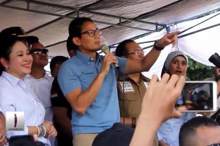 Sandiaga  Uno janji stabilkan harga sembako di Ternate