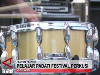 Pelajar Padati Festival Perkusi
