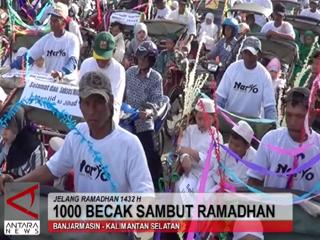 1000 Becak Sambut Ramadan