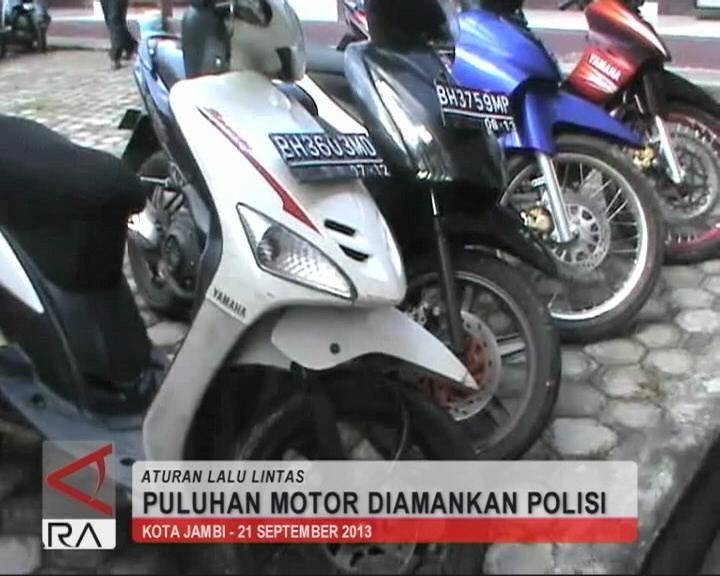 Puluhan Motor Diamankan Polisi