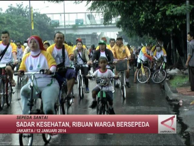 Sadar Kesehatan, Ribuan Warga Bersepeda