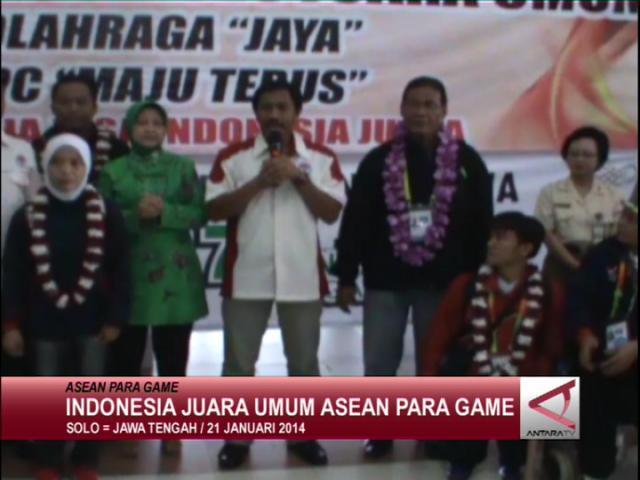 Indonesia Juara Umum Asean Para Games