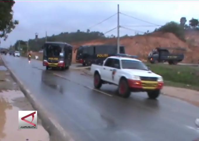 Personel Brimob Di Evakuasi Ke Mapolda Kepri