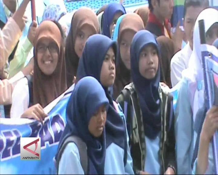 Pelajar Padang Ikuti Pesantren Ramadhan