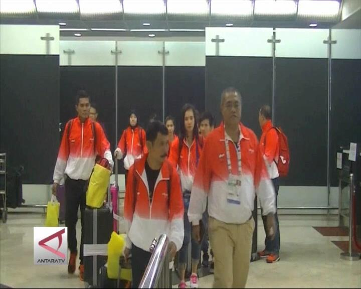 Atlet Sea Games Indonesia Tiba Di Tanah Air