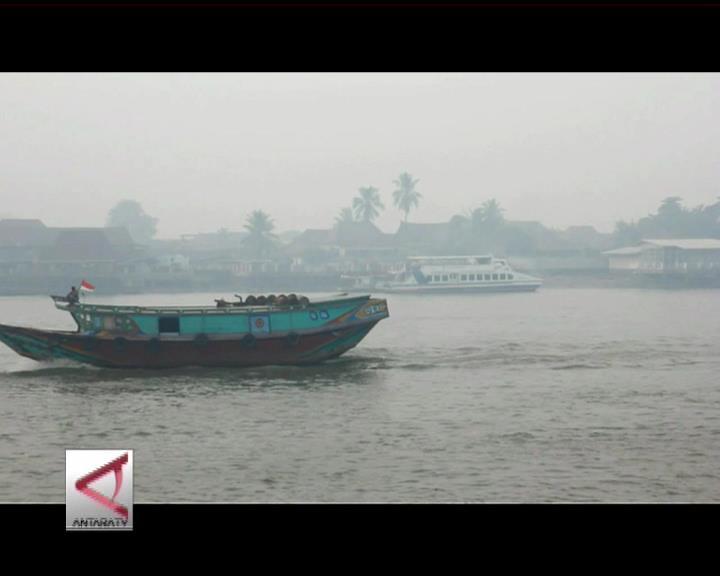 Asap Ganggu Transportasi Angkutan Sungai