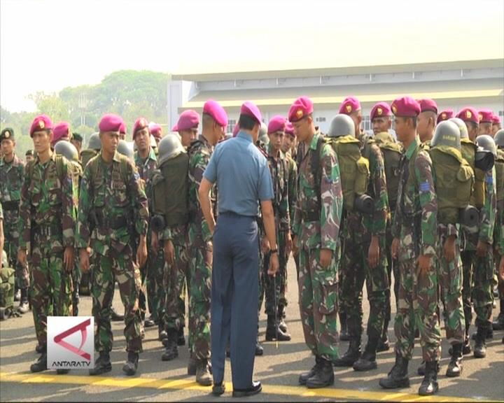TNI Berhasil Kurangi 70% Titik Api di Sumsel