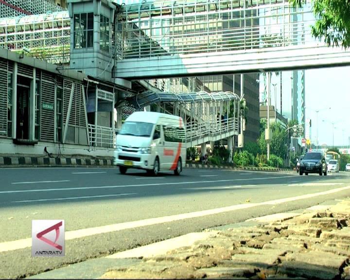 Jakarta Lengang di Hari Pertama Tahun 2016