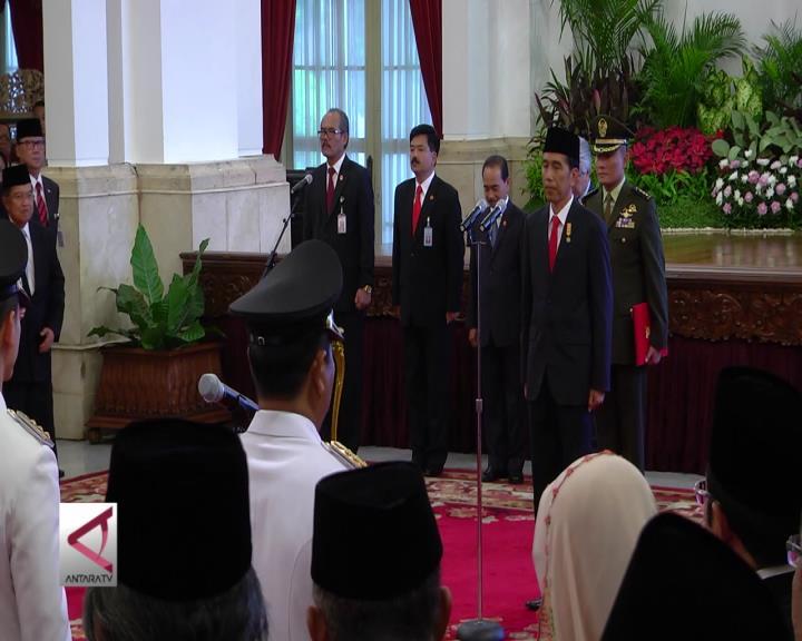 Presiden Lantik 7 Gubernur Dan Wagub Terpilih