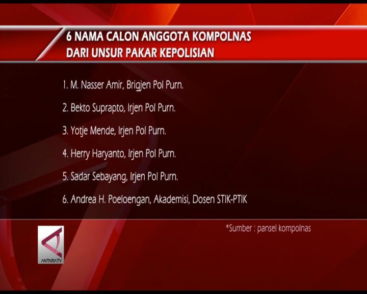 Presiden Terima Daftar Calon Anggota Kompolnas