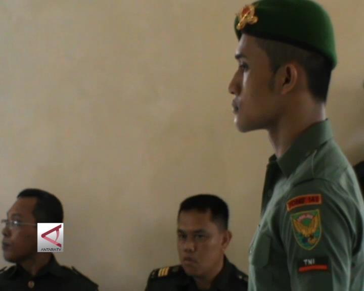 7 Prajurit TNI Lampung Jalani Sidang