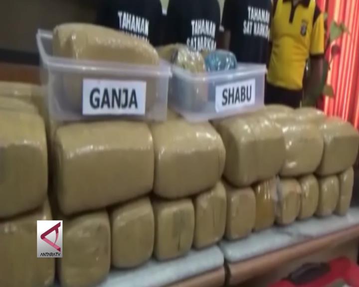 Distribusi 2kg Sabu & 45kg Ganja Via Bakauheni Digagalkan