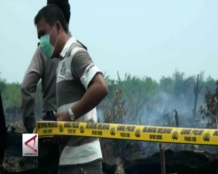 Polda Riau Segel 400 Hektare Lahan Terbakar