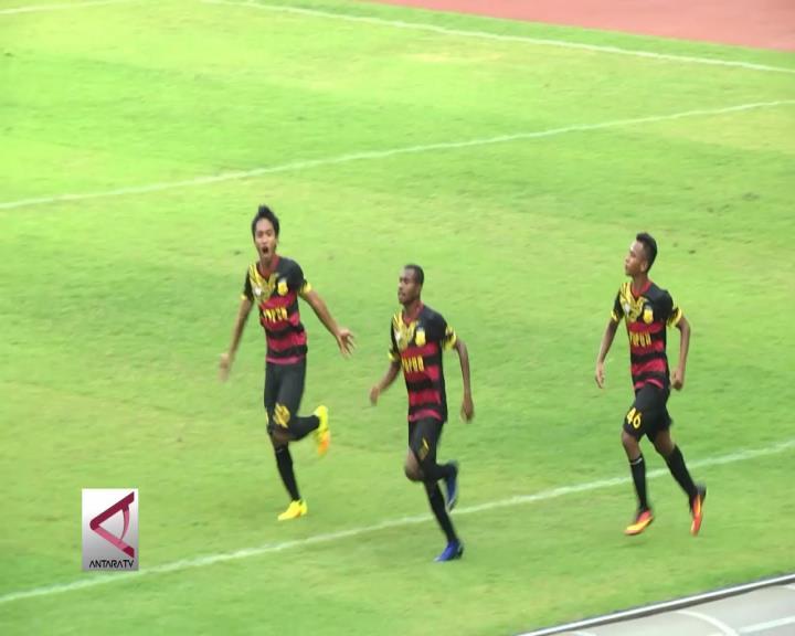 Tim Sepakbola Papua Kalahkan Kaltim