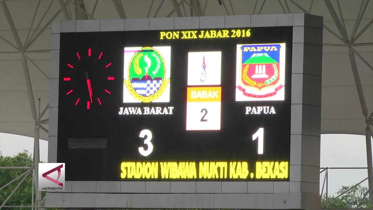 Kalahkan Papua, Tim Sepakbola Jabar Masuk Final