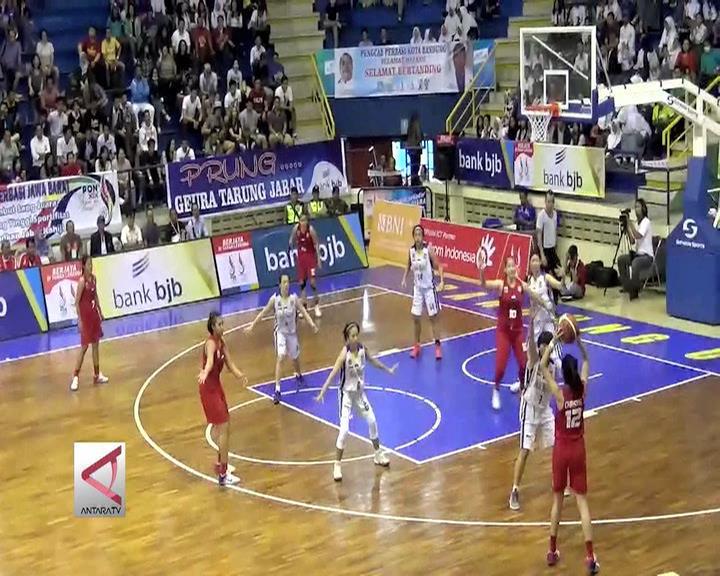 Tim Putri DKI Tantang Jateng di Final Basket