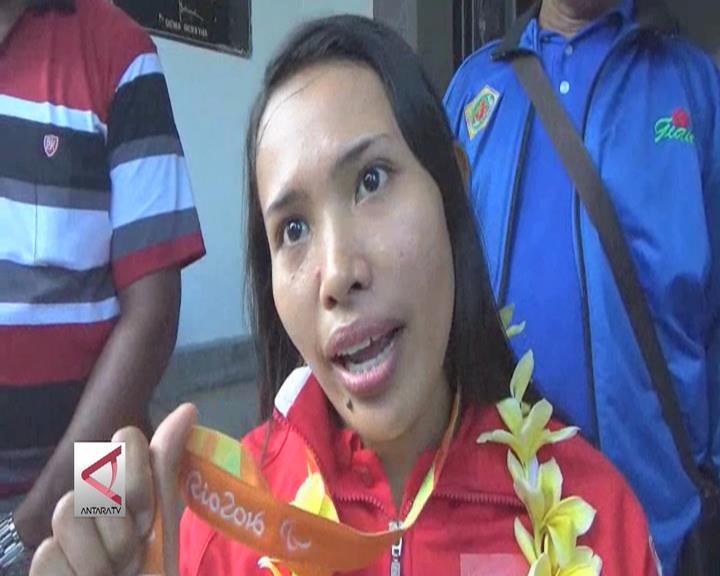Atlet Difabel Peraih Medali Paralyimpiade Disambut Meriah