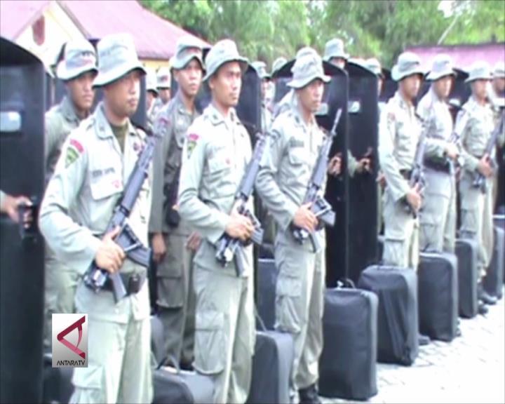 200 Personil Brimob Polda Sultra BKO ke DKI Jakarta