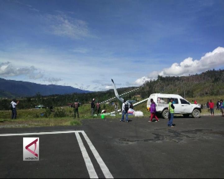 Pesawat Pengangkut Sembako Kembali Tergelincir di Papua