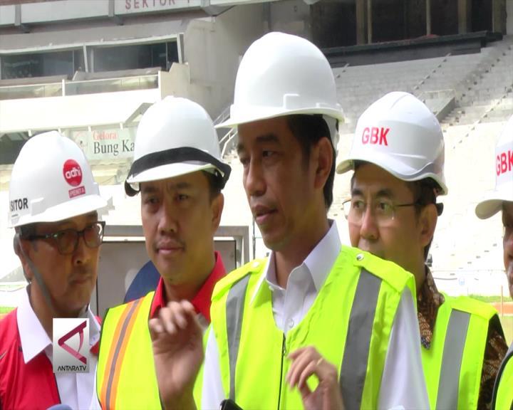 Presiden Tinjau Persiapan Venue Asian Games