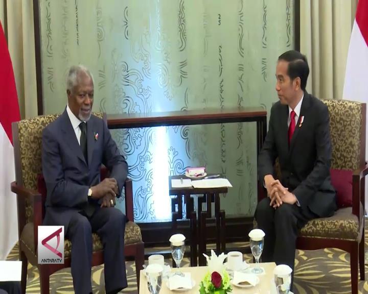 Presiden Bahas Rohingya dengan Kofi Anan