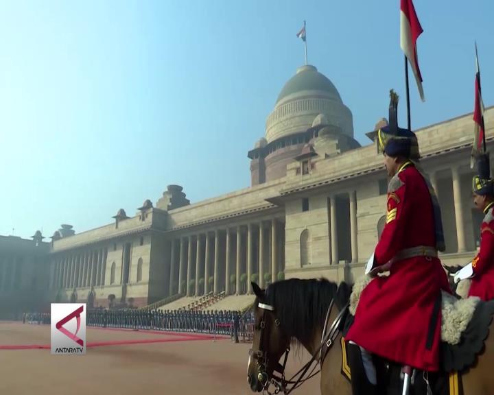 Ke India, Presiden Disambut Upacara Kenegaraan