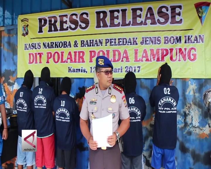 Polda Lampung Ringkus Penjahat Perairan